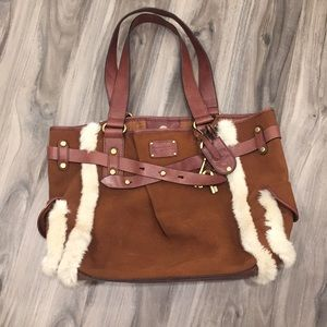 Fossil Adriana Brown Genuine Leather Suede  👜